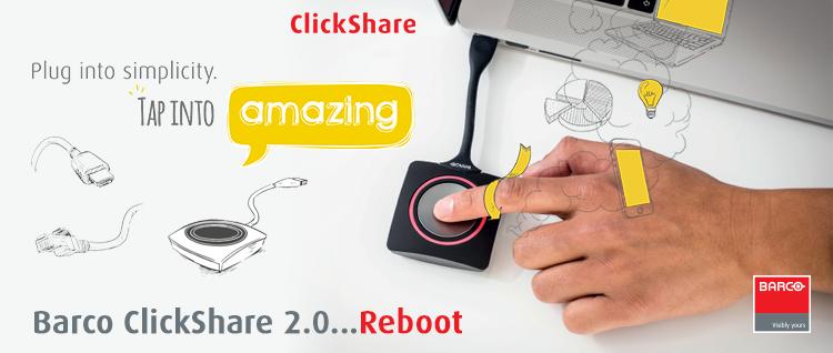 Barco Clickshare – Das intuitivste Benutzererlebnis für eine bessere Zusammenarbeit in Meetings